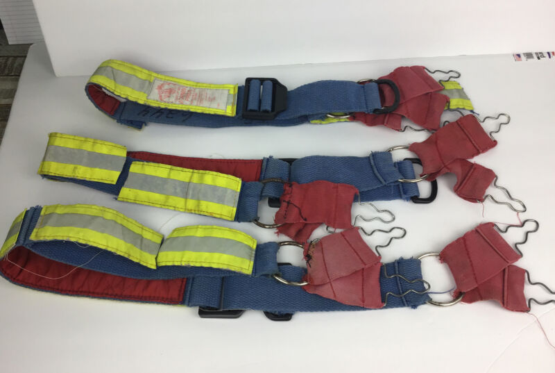 3 Morning Pride Firemans Bunker Suspenders Lot Vintage Decorative Only