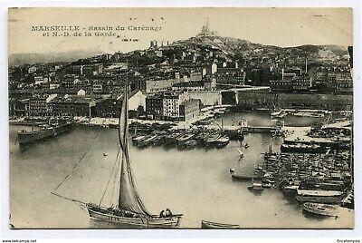 CPA - Carte postale - France -Marseille - Bassin de Carénage et Notre Dame