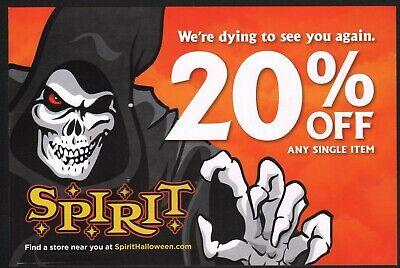 Spirit Halloween Promo Ad Mailer / 20% Discount Coupon ~ Death Grim Reaper Art