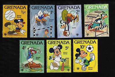 GRENADA - 1979 DISNEY CHARACTERS & IYC EMBLEM SCOTT# 950-956