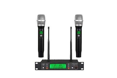 GTD 2 x100 Channel UHF Wireless Handheld Microphone Mic System 500 Mhz Band B-11 for sale  Shipping to Nigeria