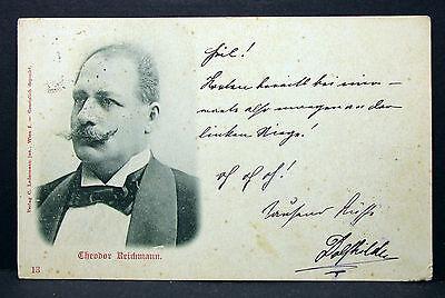 Theodor Reichmann Theater Oper Wien Österreich - Foto Autogramm-AK (Lot-H-5652