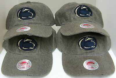 Penn Distressed Hat - Penn State Nittany Lions Gray Vintage Distressed Fitted Hat By Mitchell & Ness