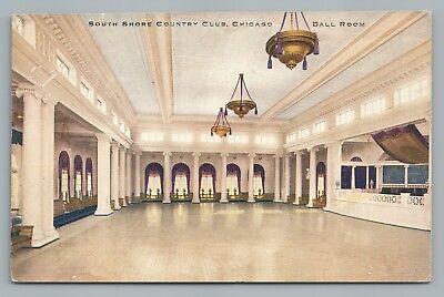 South Shore Country Club CHICAGO Rare Antique Ball Room Interior Dancefloor~1910