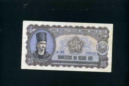 Romania 25 lei 1952 - VF-