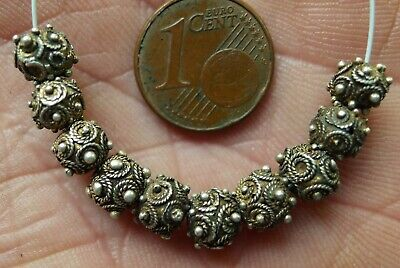 Pearl Silver Watermarked Collier Antique Mauritania Africa Antique Granulated
