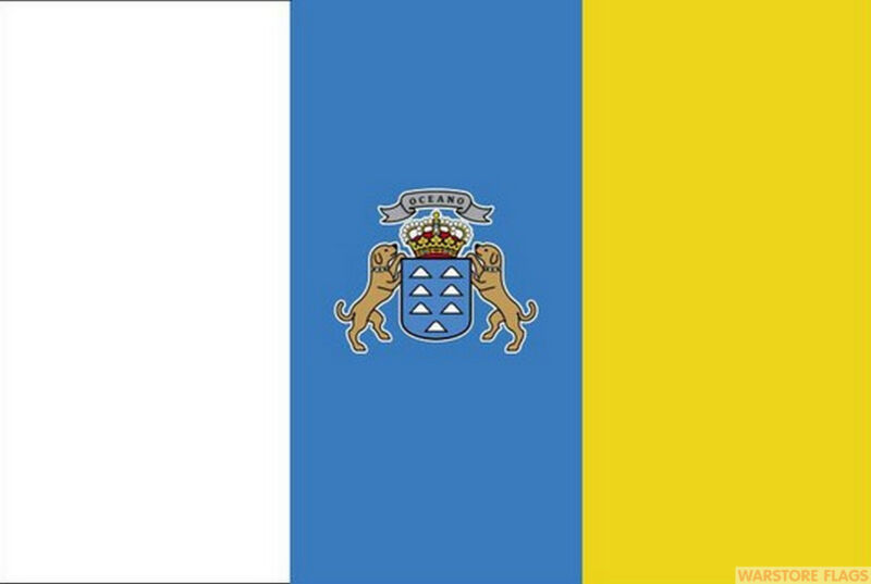 CANARY ISLANDS 5x3 feet FLAG 150cm x 90cm Polyester fabric flags SPAIN SPANISH