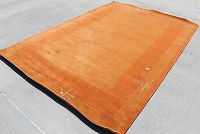 T65 Fashion Trendy Colored Tibetan Woolen Area Rug 6.8' X 9.8' Handmade in Nepal