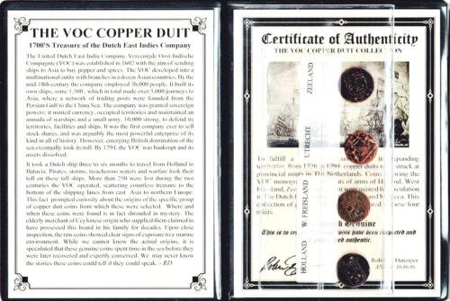 4 VOC Dutch East Indies Co Copper Duits Coins,1700