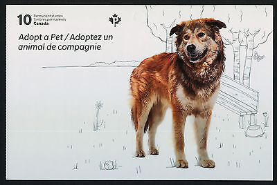 Canada 2641a Booklet MNH Adopt a Pet, Animals, Dog, Cat, Bird