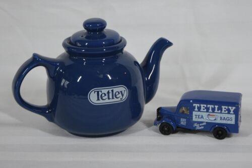 RARE! WADE POTTERIES LYONS TETLEY TEA 2 CUP TEAPOT & TOY TEDLEY TEA BAG TRUCK