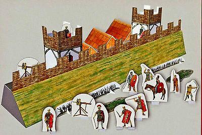 Römische Befestigungsanlage in Alesia 1:87 Bastelbogen mit Figuren Kartonmodell