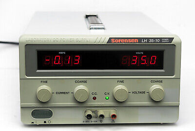 Sorensen Lh 35-10 Dc Benchtop Linear Power Supply 35v 10a