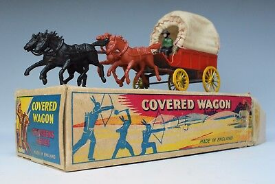 CHARBENS - LEAD & PLASTIC WILD WEST COVERED WAGON - BOXED...!!