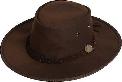 Scippis Hut Westernhut Cowboyhut GIBSON Oilskin Brown Braun NEU