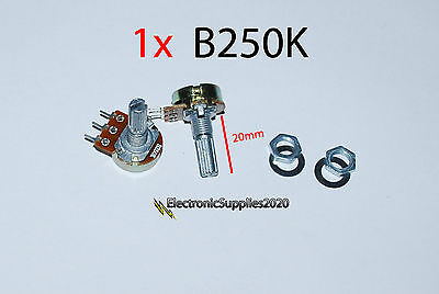 250k Ohm Logarithmic Taper Rotary Potentiometer With Fitting Us Seller