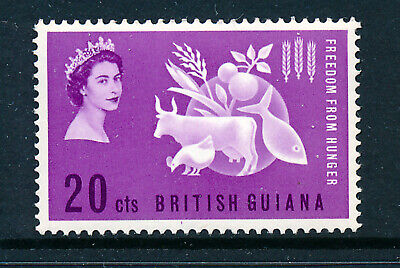 BRITISH GUIANA 1963 FREEDOM FROM HUNGER CROWN AGENTS OMNIBUS BLOCK OF 4 MNH