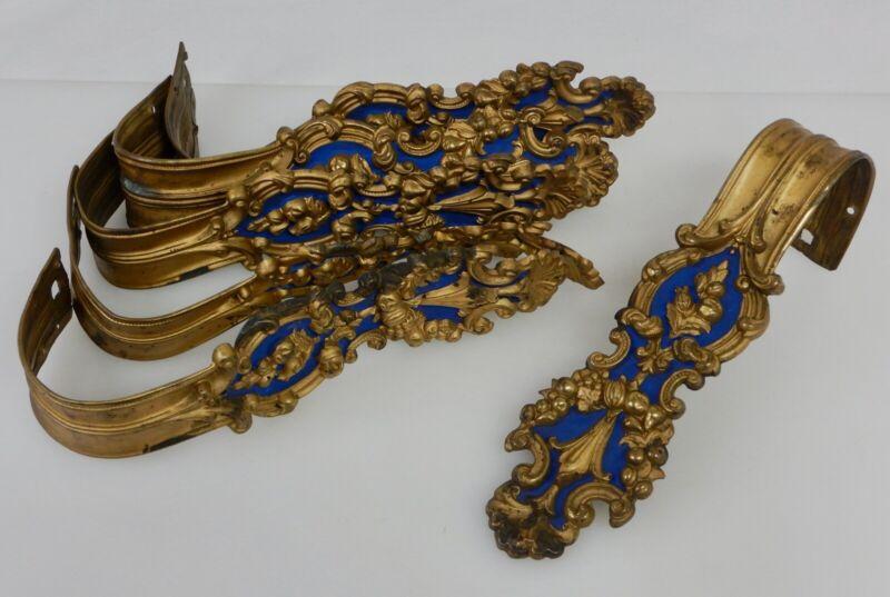 Antique Set of 6 Brass Curtain Tie Backs - 82266
