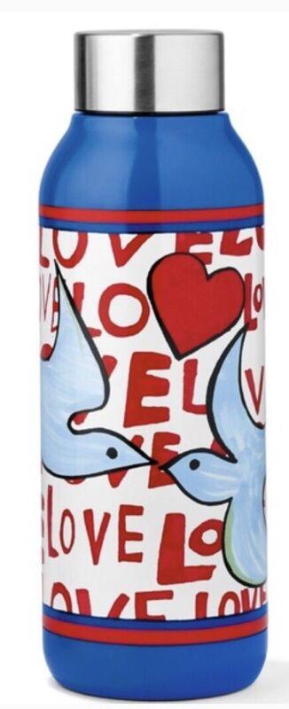 Brighton Love Doves Promo 16 oz Water Bottle Blue D30224 Sealed Tom Clancey