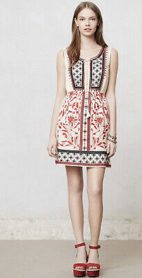 NEW Anthropologie Sachin & Babi Kasi Embroidered Dress Size 6 Child Embroidered Dress