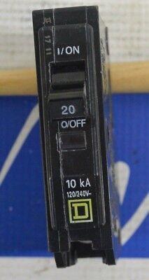 Lot Of 10 Square D Qob120 1 Pole 20 Amp Bolt-on Circuit Breakers