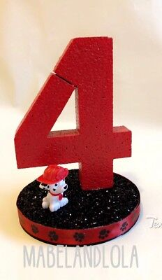 Paw Patrol Theme Birthday Party Centerpiece Table Number Decoration ANY AGE