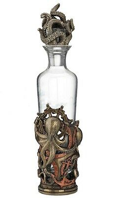 "11.75"" Steampunk Octopus Spirit Decanter Home Decor Statue Figure"