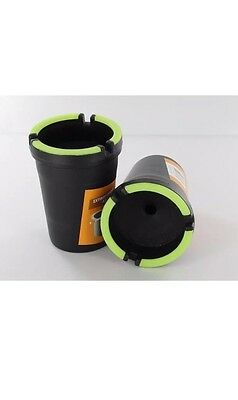 2X Glow in the Dark Cup Style Car Auto Self Extinguishing Ashtray Cup Holder - Glow In The Dark Cup