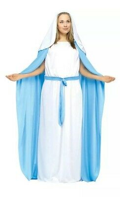 Biblical Virgin Mary Costume Women Adult Christmas Halloween Bible Plus 16W-24W - Biblical Costumes For Women