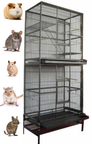 """LARGE 76"""" Double Stackable GuineaPig Ferret Rat Mice Squirrel Chinchilla Cage"""