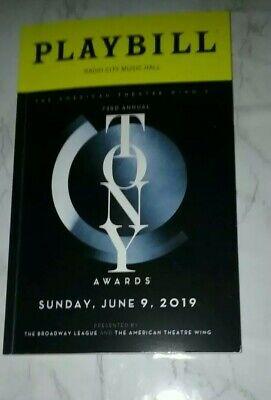 73rd Annual Tony Awards Playbill Radio City Music Hall June 9, 2019 James Corden
