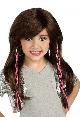 BRATZ Yasmin Rocks WIG Brown Dress-Up Halloween Child Costume Accessory Braids