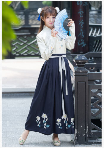 Chinese Ancient Traditional Hanfu Women Fusion Modern Hanbok Tang Dynasty Consum