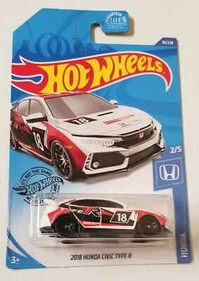 2020 Hot Wheels '18 Honda Civic Type R * White * NIP 1:64 Scale