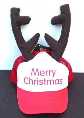 New Foam Mesh Merry Christmas Reindeer Antlers Ajustable Hat Cap  - Reindeer Antler Hat