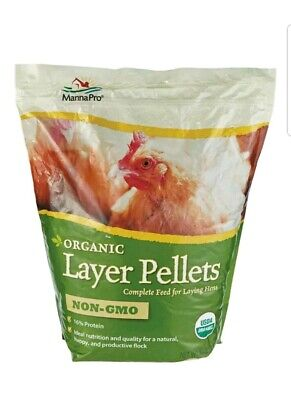 Manna Pro Organic Layer Pellets Poultry Feed Corn 10 Lbs. Chicken Feed