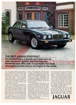 1984 JAGUAR XJ6 Sedan Vintage Original Print AD - Black car photo USA Best (Best British Cars Ever)