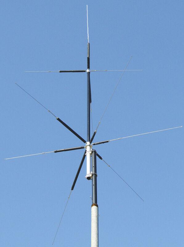 MFJ-2389 Compact 8-Band (80/40/20/15/10/6/2M&70CM) Vertical HF/VHF/UHF Antenna