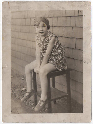 1920s Style Outfits (1920s Beautiful Girl Flapper Style Outfit - Fashion Snapshot Found Photo)