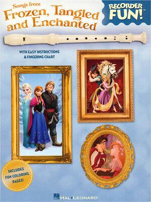 Frozen, Tangled and Enchanted Recorder Fun Noten für Sopranblockflöte leicht
