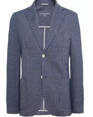 CIRCOLO 1901 Size 48R UK (58 EU) Blue Textured Blazer/Jacket CN1930 RRP £389