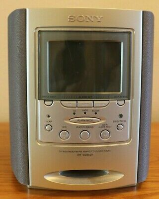 Sony Dream Machine Alarm Clock TV Weather FM/AM Radio CD Player ICF-CD863V