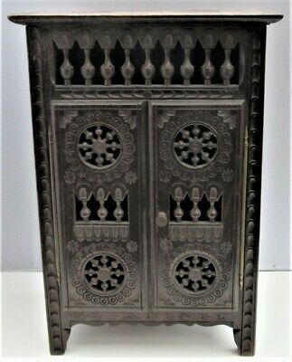 Miniature Breton Armoire or Cupboard, Quimper Britanny, France c.1950