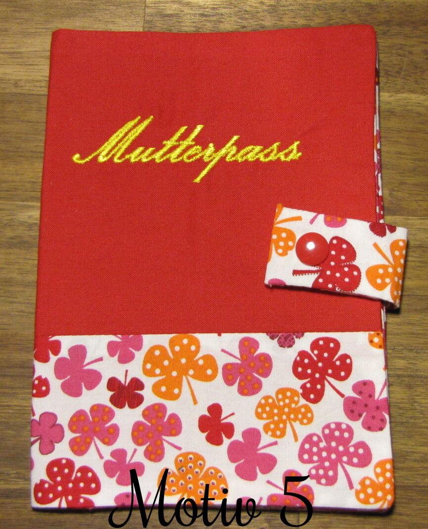 Mutterpasshülle | Geschenk | Handgemacht Rot Motiv 5