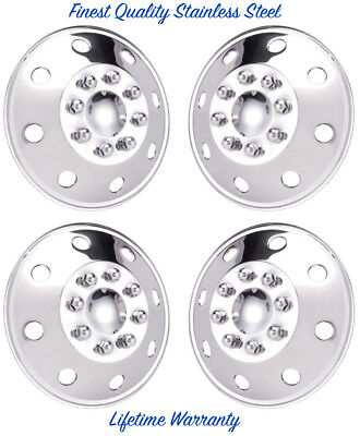 "16"" JAMBOREE STAINLESS STEEL MOTORHOME & TRUCKS WHEEL COVERS HUBCAPS SET OF 4 ©"