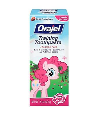 Orajel Toddler My Little Pony Training Toothpaste, Pinky Fruity 1.5 oz (3 pack)