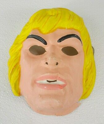 Halloween Costumes Of The 80s (Vintage 80's HE-MAN Halloween Costume Mask Ben Cooper Masters of the Universe)