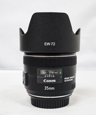 # Canon EF 35mm f/2.0 IS USM Wide Angle Lens with hood (s/n 0250)