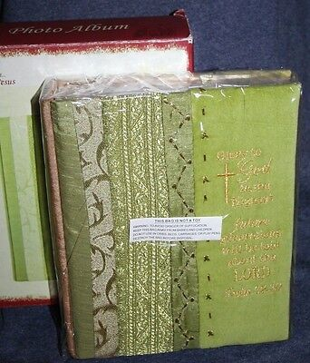 NEW  FABRIC COVER PHOTO ALBUM~ GLORY TO GOD IN THE HIGHEST~ 200 4X6