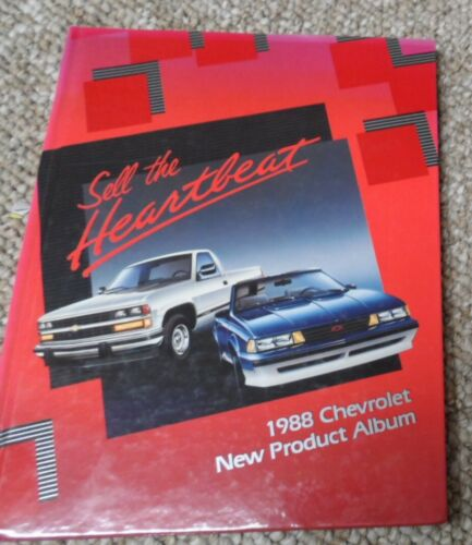 1988 Chevrolet New Product Album. Chevy Dealer Only Hardcover Book